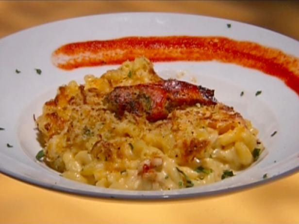 Get Vegas style Mac 'N' Cheese with Grilled Lobster Recipe from Food Network