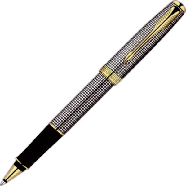 Sterling silver roller ball pen with 23-karat gold plate trim. Sonnet combines the perfect mix of modernity and timeless style. From the geometrical precision and luxury of precious metals to the modern elegance of stainless steel, you are sure to find a Sonnet that is right for everyone. Black ink and medium point refill. The smoothest, cleanest and most consistent. #GetYourPromoOn promoproducts.com