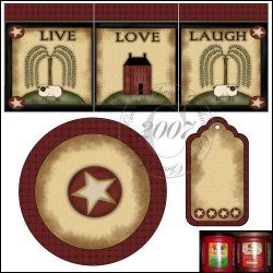 Live Love Laugh Folgers Coffee Canister printables -  : Country Charm Graphics ~•~