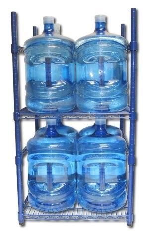 Cheap Price Zephyr Fluid Solutions 5 Gallon Water Bottle Storage Rack with 8 Bottle Capacity by wojcie