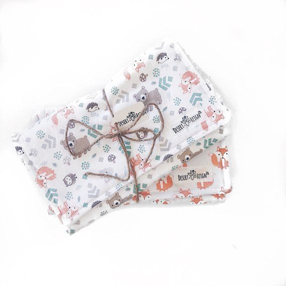Animal Print Collection Great Baby Shower Gift Idea Terry Backed Burp Cloth