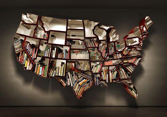 http://womeninsouthernlit.files.wordpress.com/2011/05/united-states-bookshelf.jpgLibraries, Bookshelves, Bookshelf Design, 50 States, Maps, Bookcas, Ron Arad, Book Shelves, United States