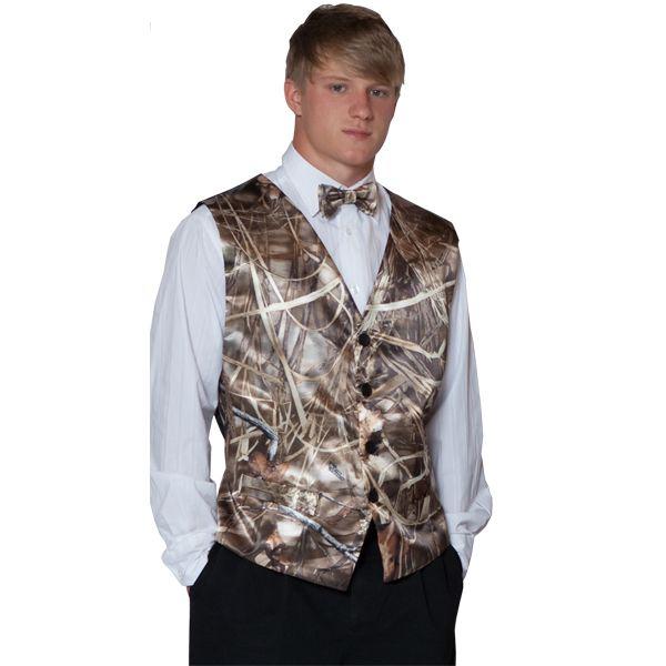 Camo Men's Wedding Attire   ... / Merchandise / Camo Formal Wear / Men's / Realtree Camo Men's Vest