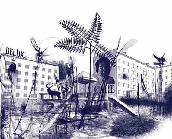 """Αλέξανδρος Ψυχούλης, """"Deluxe"""", 2011, στυλό διαρκείας σε χαρτί, 92 x 70 εκ., a.antonopoulou.art (Αθήνα)"""