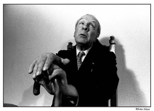 2 Great Ones:  Jorge Luis Borges shot by Pedro Meyer