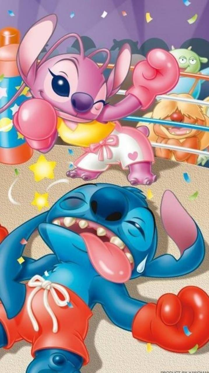 Stitch And Angel Stitch And Angel Cute Disney Wallpaper Wallpaper Iphone Cute