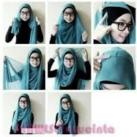 hijab tutorial with glasses