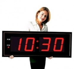 Why Not Get A Really Large Digital Wall Clock That Everyone Can See (and No