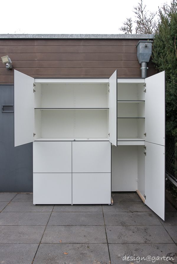 150 best terrassenschrank balkonschrank gartenschrank outdoor schr nke images on pinterest. Black Bedroom Furniture Sets. Home Design Ideas