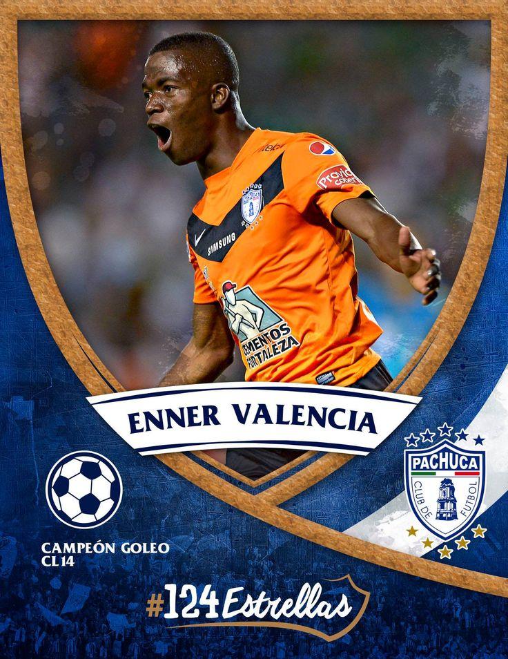 #Cientoveinticuatro estrellas: Enner Valencia  #ElÚnicoEnMi💙