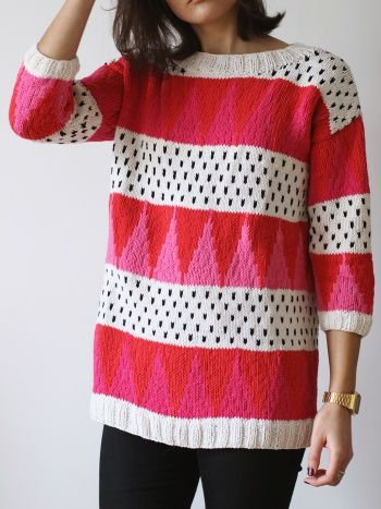 Geometric knit - free pattern