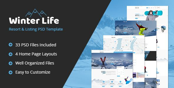 Winter Life - Resort & Listing PSD Template - Business Corporate Download here : https://themeforest.net/item/winter-life-resort-listing-psd-template/19858111?s_rank=124&ref=Al-fatih #psd template #web design #web responsive #psd #blog #business #flat #design #personal #shop #health #trend #technology