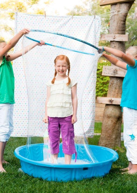 Bubble ideas for kids ~ giant bubble wand