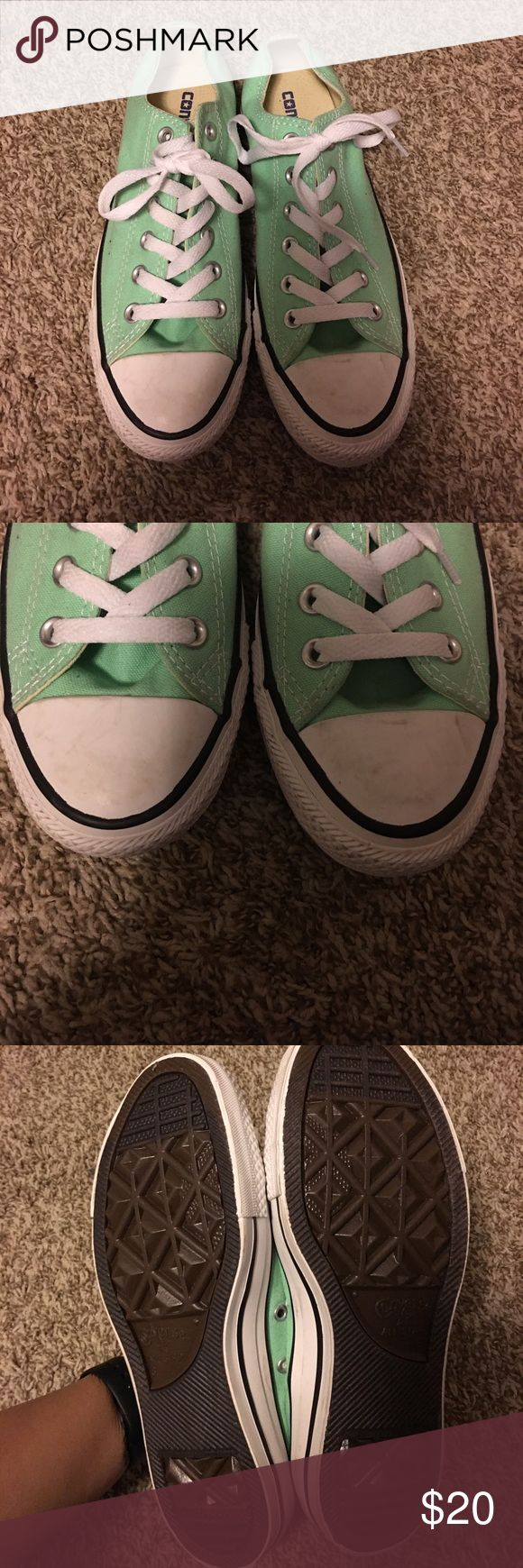 Tiffany blue converse Tiffany blue converse. Good condition. There are a few scuffs but cleanable and hardly noticeable. Women's size 8. Converse Shoes Sneakers