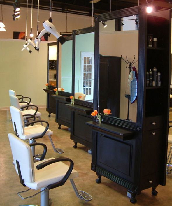 993 best salon images on pinterest salon ideas nail for Salon furniture makeup station