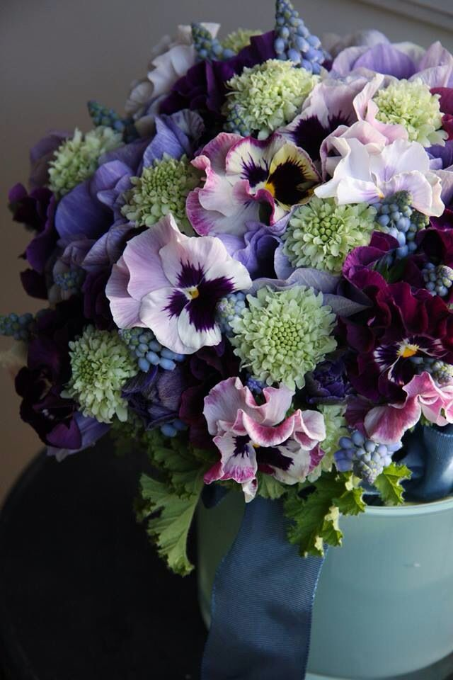 lovely purple flower arrangement