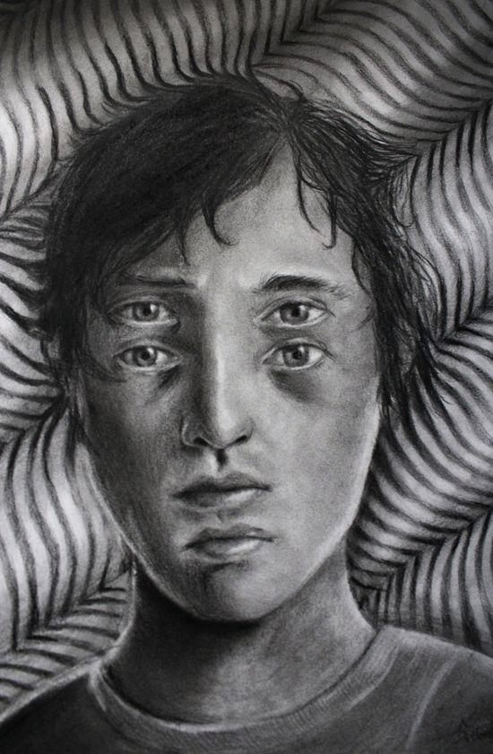Sebastian Eriksson est un artiste de 18 ans basé en Suède. Ses dessins impressionnants et torturés faitsau crayon illustrent pour la plupart du temps ses propres émotions et pensées. N'hésitez pas à faire un tour sur le portfolio de cet artiste ou à le suivre sur sa page Facebook pour en découvrir davantage.