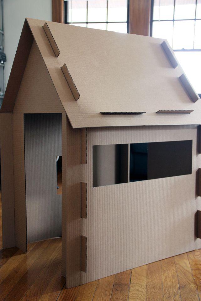 DIY cardboard little house