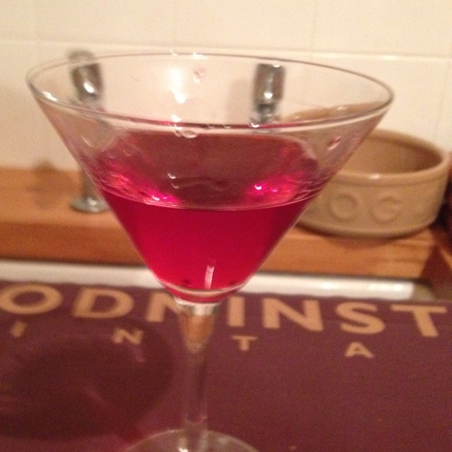 Home made sloe gin.