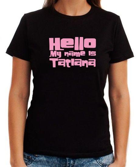 Polo de dama de hello my name is tatiana