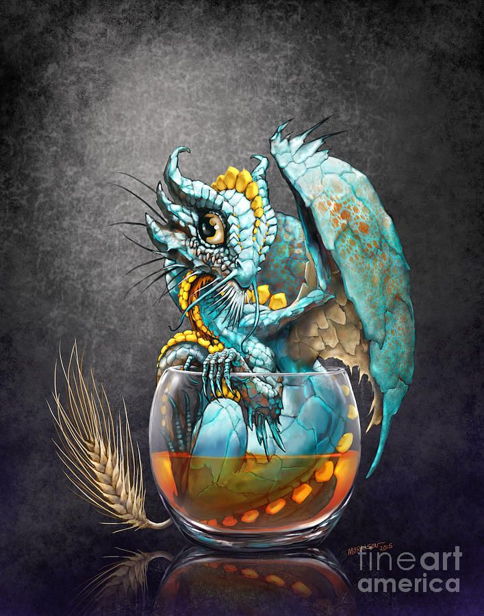 Whiskey Dragon Digital Art by Stanley Morrison