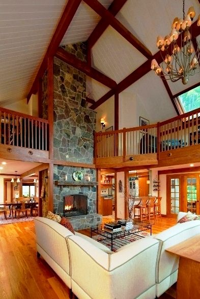 1000 ideas about post and beam on pinterest barn houses for Open concept post and beam house plans