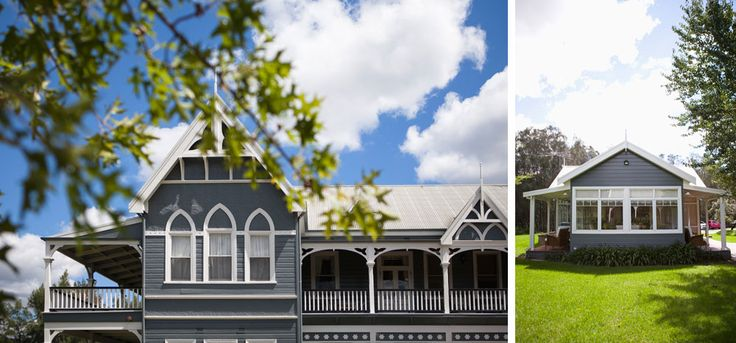The vintage buildings of peppers Convent Hunter Valley