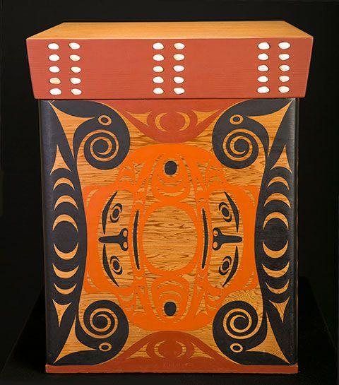 Wolf Salish Style Bentwood Box Art Thompson #Nuu-chah-nulth amazing as always