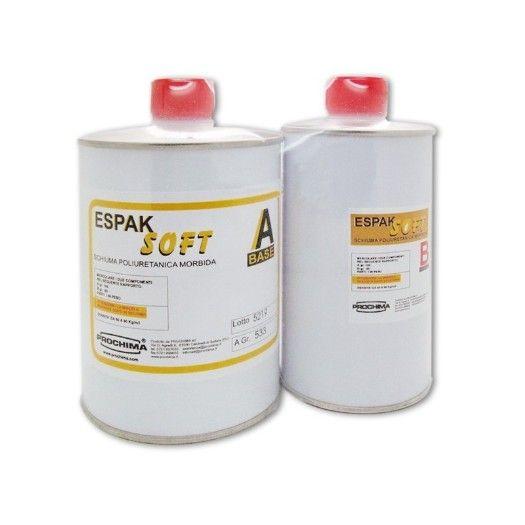ESPAK SOFT espak soft punti vendita prezzo squishy ESPAK SOFT: bicomponente poliuretanico liquido, esente da FREON, che permette di ottenere un espanso morbido in cellula chiusa a freddo e senza l'ausilio d'impianti, con densità di circa 55 Kg/m3 in schiumata libera1. L'aumento di volume è di circa 12-14 volte in schiumata libera.La densità dell'espanso può essere aumentata se la schiumatura avviene in uno stampo chiuso, in base alla quantità di prodotto usato.