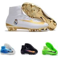 2017 New CR7 Kids Soccer Shoes Red Gold Mercurial Superfly V Soccer Cleats Cristiano Ronaldo Men Children football boots Magista Obra