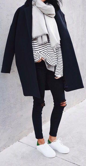 #fall #fashion / stripe + layers – Marion Klug