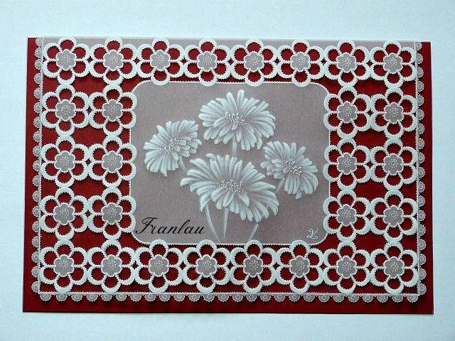 """Карта Pergamano """"Цветы в изобилии"""" кружева из бумаги : открытки по franlau"""