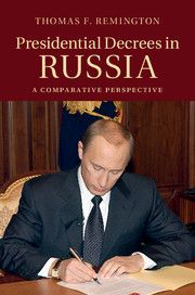 The book examines the way Presidents Yeltsin, Medvedev, and Putin have used their constitutional decree powers