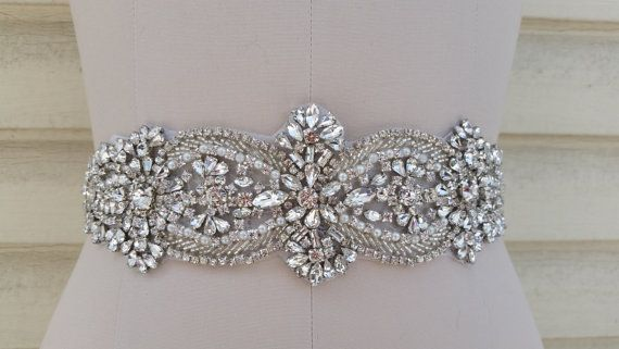 Wedding Belt, Bridal Belt, Sash Belt, Crystal Rhinestone - Style B21177