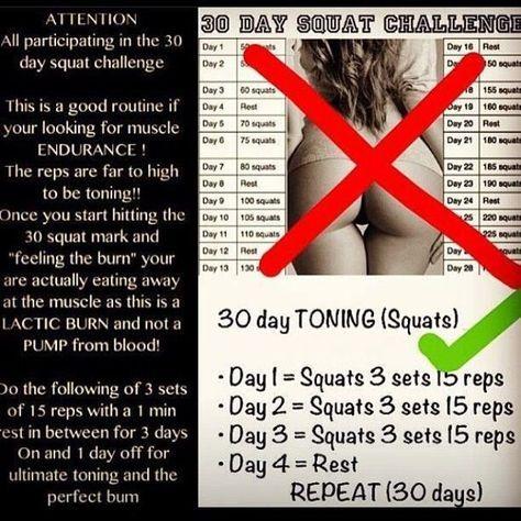 Resultado de imagen para 30 day squat challenge results                                                                                                                                                                                 Más