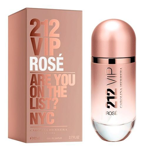 212 Vip Rosé - Carolina Herrera *Top notes: Sparking and festive - Champagne rosé; *Middle notes: Voluptuous innocence - Fleur de Pêcher; *Bottom notes: Addictive elegance - Queen Wood, white musk, enveloping amber. #perfumes #perfume #carolinaherrera #fragrancia