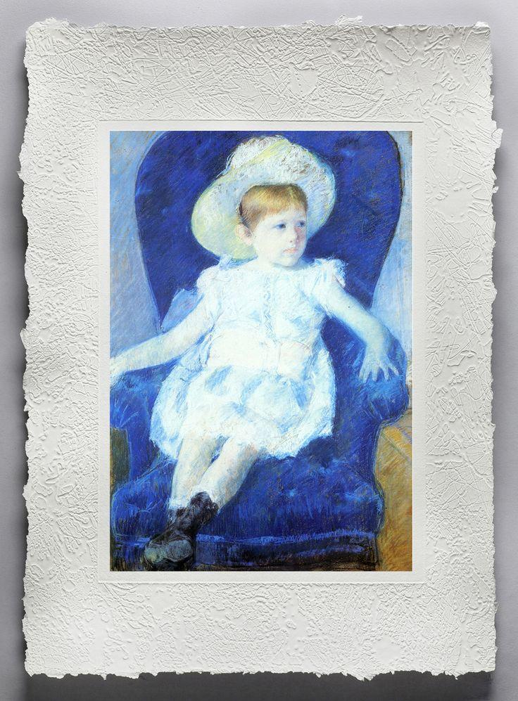 MARY STEVENSON CASSATT (1844 - 1926) Stati Uniti - Elsie in una sedia blu (1880) Stampa fine art realizzata su esclusiva carta fatta a mano dal mastro cartaio Sandro Tiberi www.mementoarte.com - info.mementoarte.com