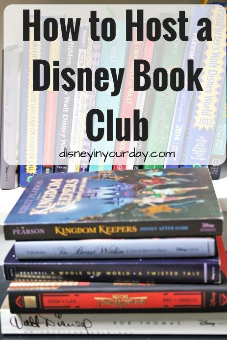 How to Host a Disney Book Club - do you like Disney? Do you like reading?  Then a Disney book club may be the perfect idea for you!  This post has tips on how to get started and what books you could read, as well as starter discussion questions for the book A Whole New World!