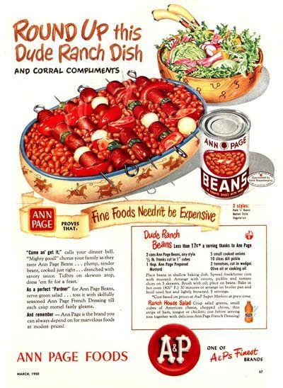 297 best Retro Happenings: A&P images on Pinterest | Vintage food ...
