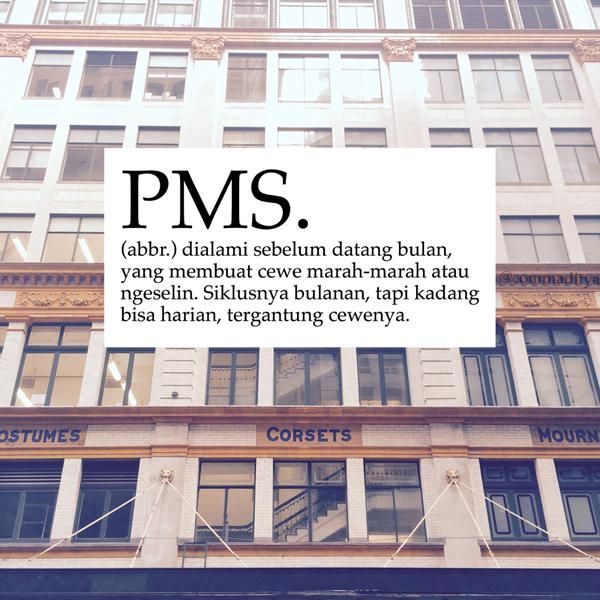 Meme Kamus: PMS