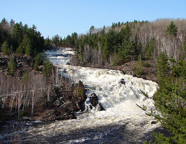 Onaping Falls as seen from the A.Y. Jackson Lookout, Greater Sudbury, Ontario, Canada