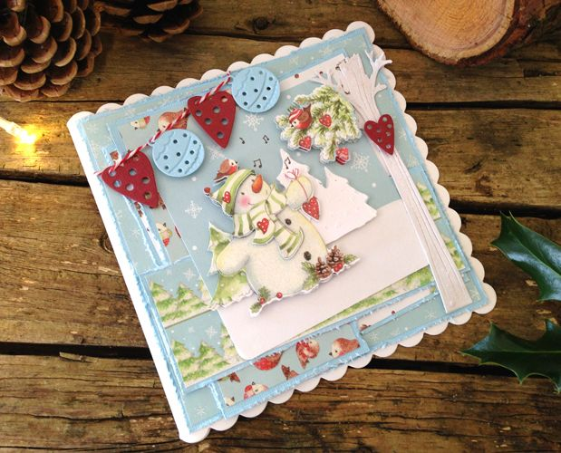 3 Ways to Make Gorgeous Christmas Cards with Helz Cuppleditch Winter Woodland