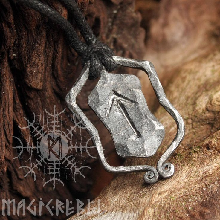 This is a forged iron hand-crafted rune pendant. The t-rune is named after god Tyr or Tiw in Norse. The legendary Norse warrior Tyr lost his hand in a battle with a giant wolf Fenris while fighting to save his people. Also Tuesday is named after Tiw. The meanings of Tiwaz or Teiwaz are sound leade