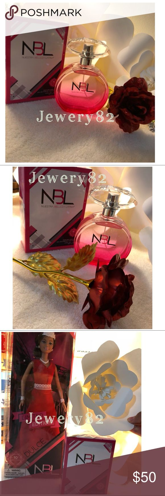 Eau de PARFUM. Perfume para damas   Come with free doll collection.  new with gift box.  beautiful gift.  Nuestra Belleza Latina limited Edition. Accessories