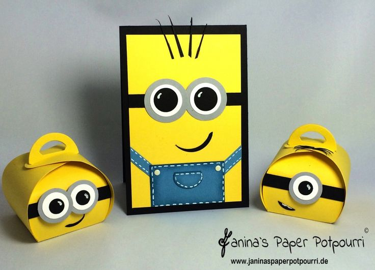 jpp - Minion Birthday Set / Minions Card & Box / Stampin' Up! Berlin / Curvy Keepsake  www.janinaspaperpotpourri.de