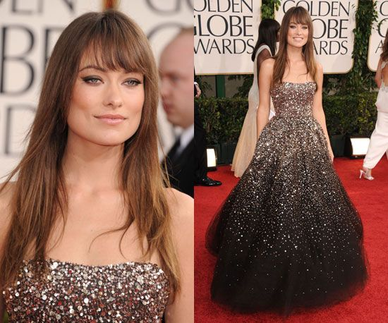 Olivia WildeColleges Fashion, Hair Colors, Masque Ball, Red Carpets, Bangs, Best Dresses, The Dresses, Olivia Wilde, Golden Globes Awards