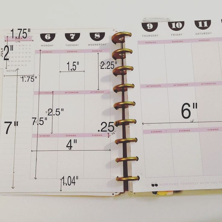 For anyone who needs dimensions on the happy planners  #happyplanner #planner…