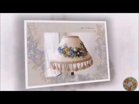 Как обтянуть абажур тканью своими руками How to cover lampshade with fabric