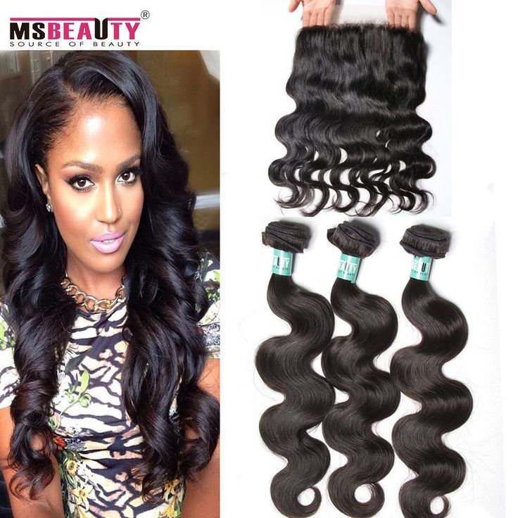 360 Lace Frontal with 2/3Bundles Virgin Brazilian Body Wave Hair Human Hair wavy #MSBEAUTY #HairEXtension
