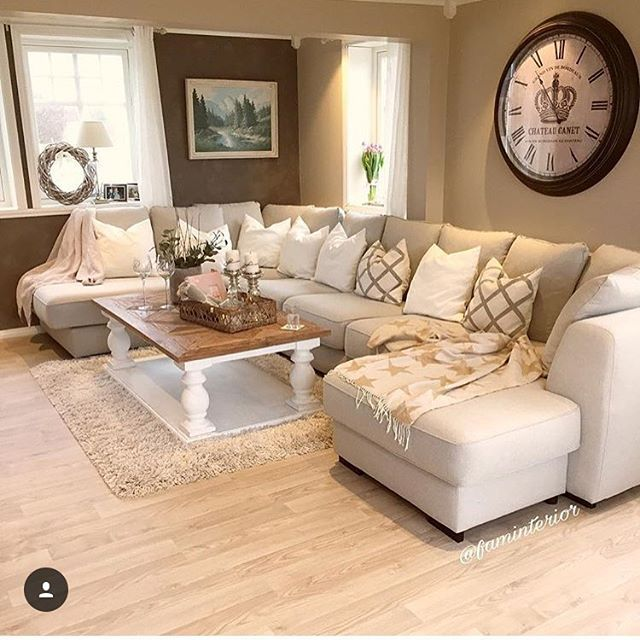 Best 10 brown sectional ideas on pinterest brown family for C shaped living room